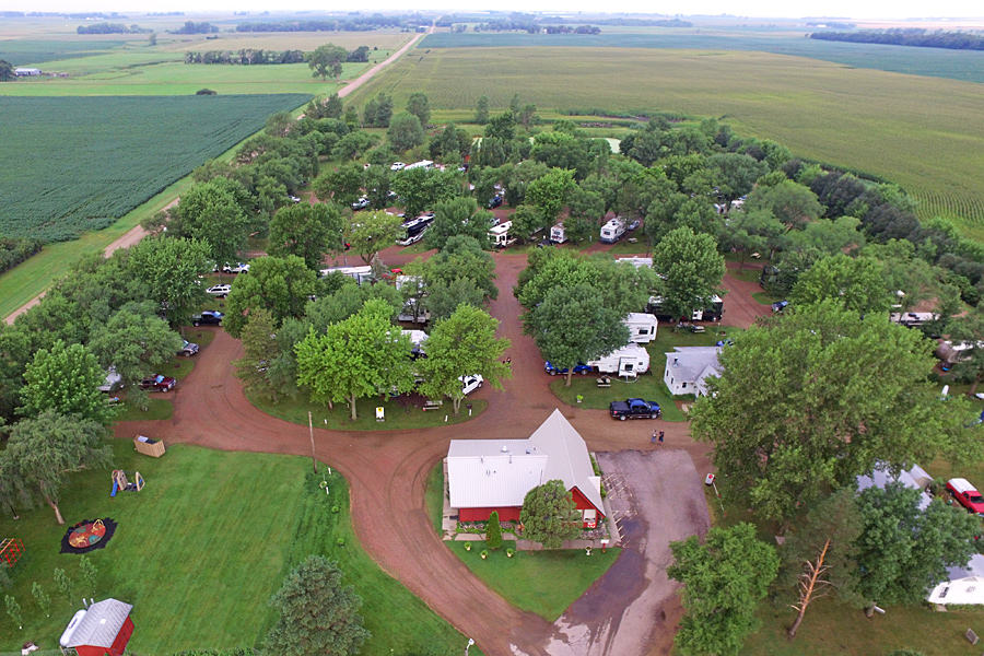 Aerial View of Dakota Sunsets Campground